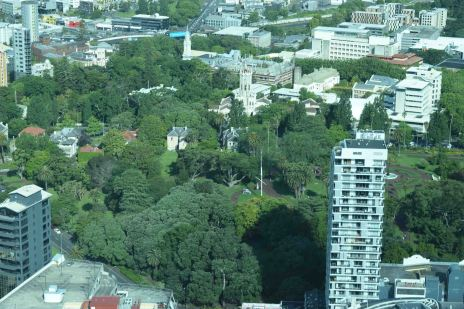 View of Auckland from the Sky Tower.