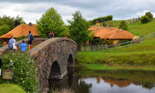 The bridge leading to the Green Dragon.
