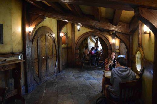 Inside the Green Dragon in Hobbiton.