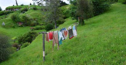 Little Hobbit clothes on the line.