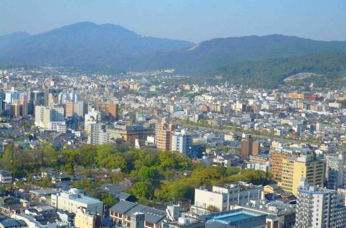 View of Kyoto from Tower.