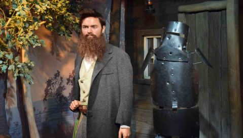Ned Kelly in Madame Tussaud's.