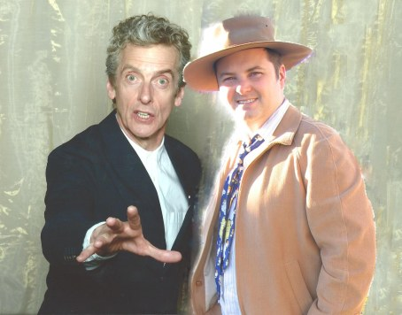 I felt so bad about how fat I look next to Peter Capaldi, I replaced myself with a picture from 2007.