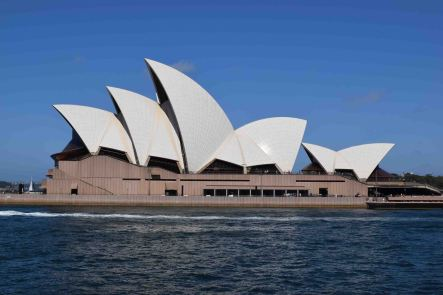 Sydney Opera House from the ferry.