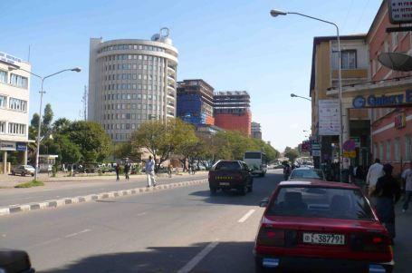 Modern buildings in Addis Ababa.