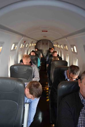 Inside the Beech 1900.