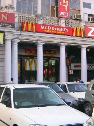 McDonald's at Connaught Place.