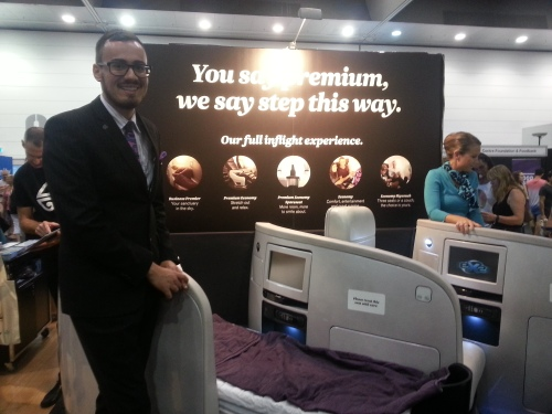 Showcasing business class for New Zealand.