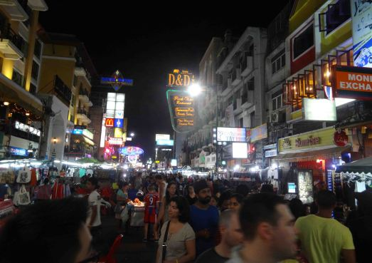 Khao San Road at night (2014)