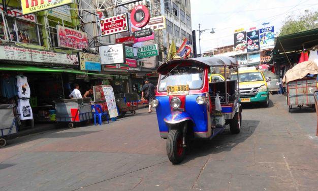 A tuk-tuk in Bangkok.