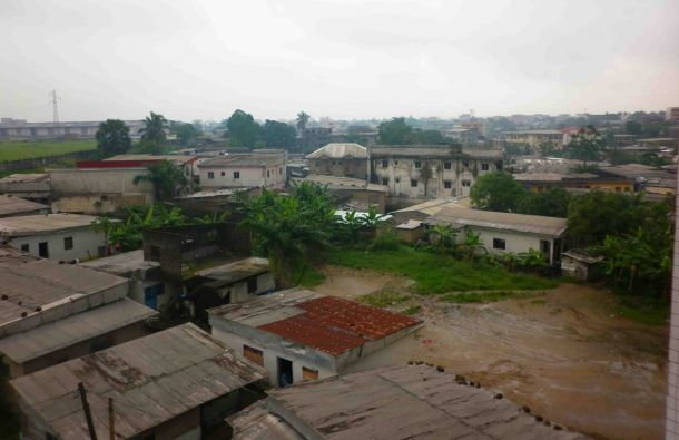 View from the hotel looking away from central Douala.
