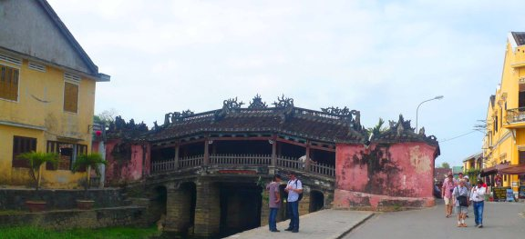 Famous bridge in Hoi An.