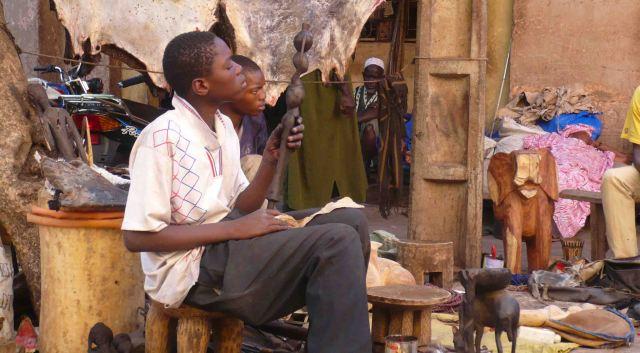at artisans market bamako