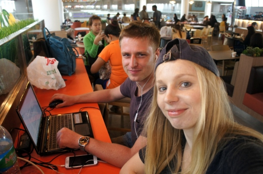 Blogging at Bangkok Airport