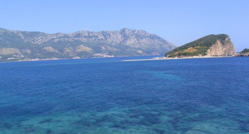 Beautiful sea in Montenegro.