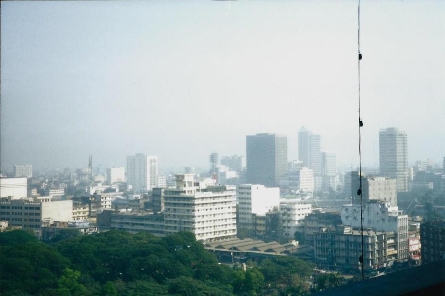 Dhaka through the smog.