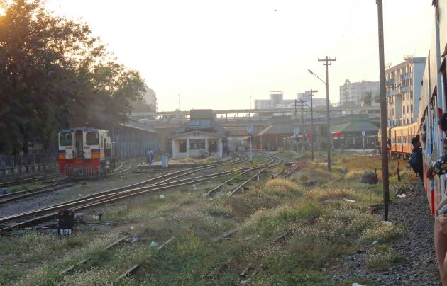 We approach Yangon Central at the end of the journey.