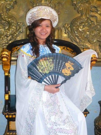 girl in dress up dalat