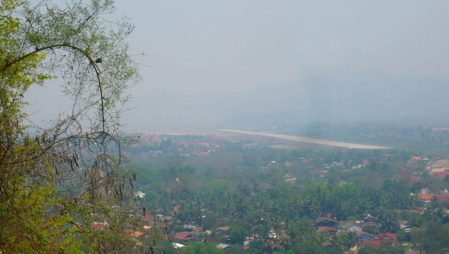 View from the hill over Luang Prabang.