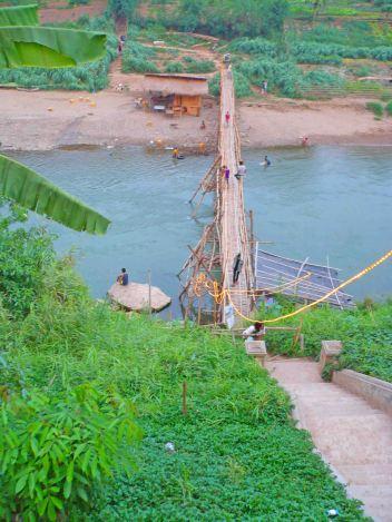 Awesome bridge in Luang Prabang.