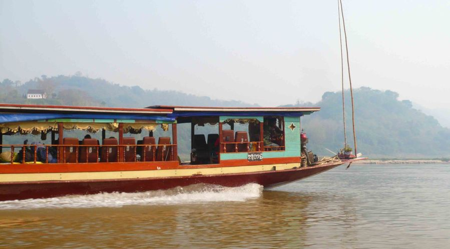 Boat on the Mekong.