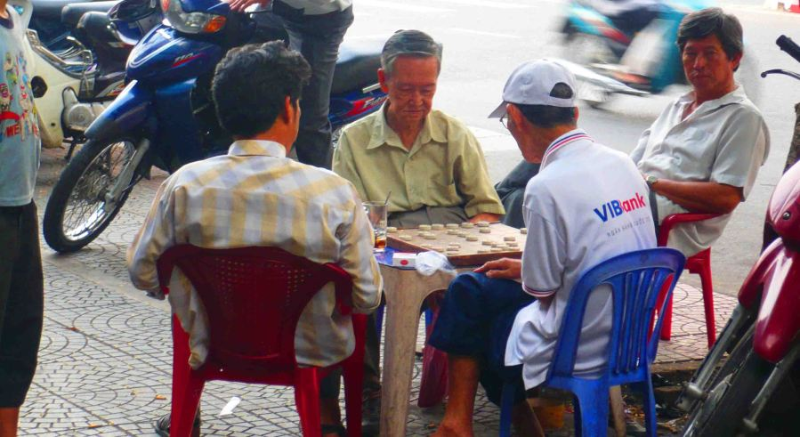 men playing game hcmc
