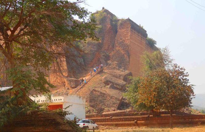 Mingun Paya from a distance.