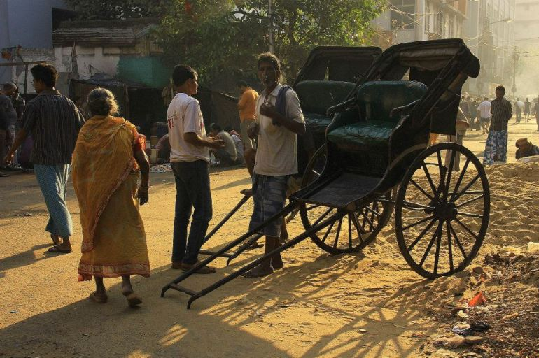 A rickshaw in Kolkata.