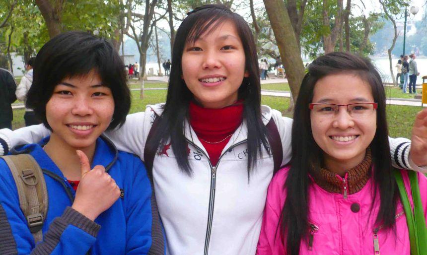 students in Hanoi