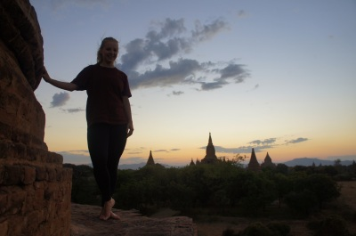 Sunset at Bagan.