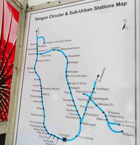 yangon railway map