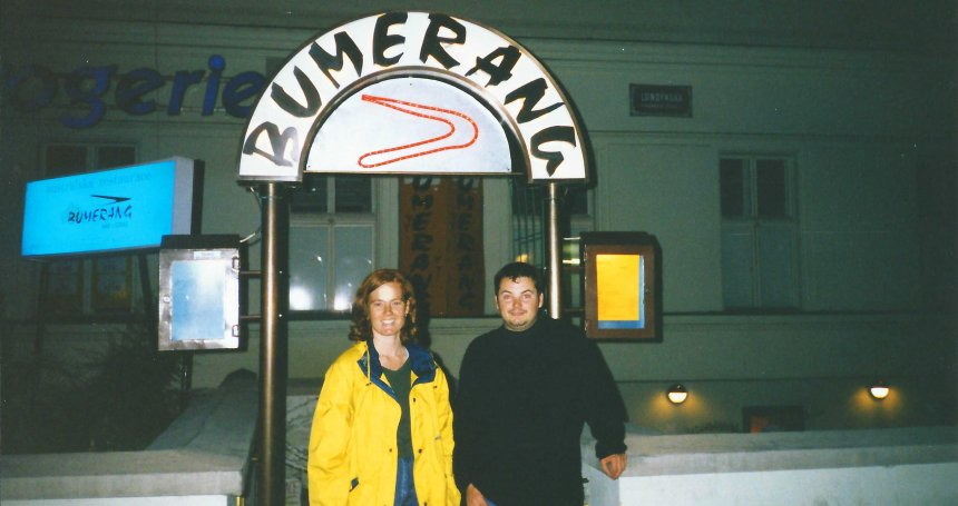 Here's a bar we found. Just had to get a photo taken outside it!