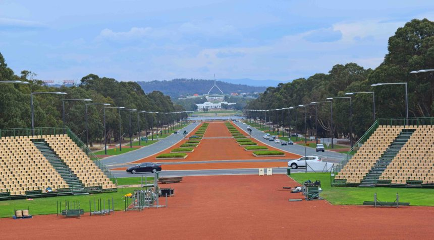 View FROM Parliament House.