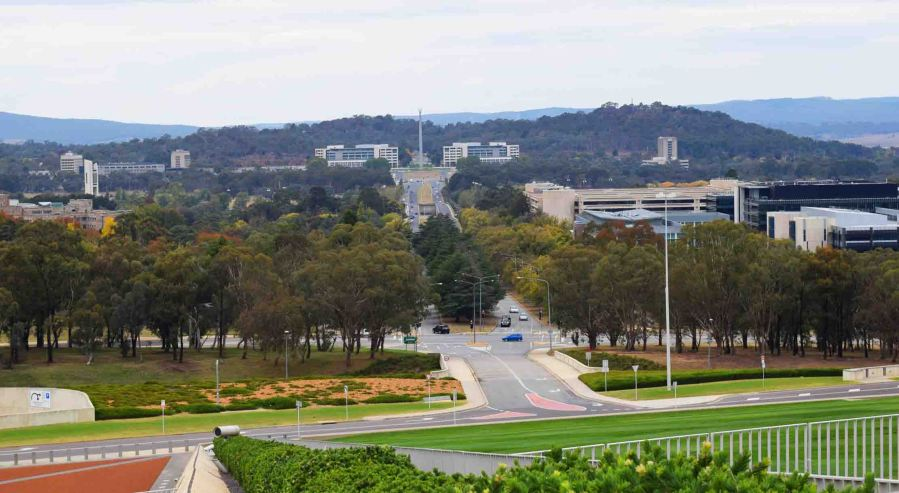 A view across Canberra.