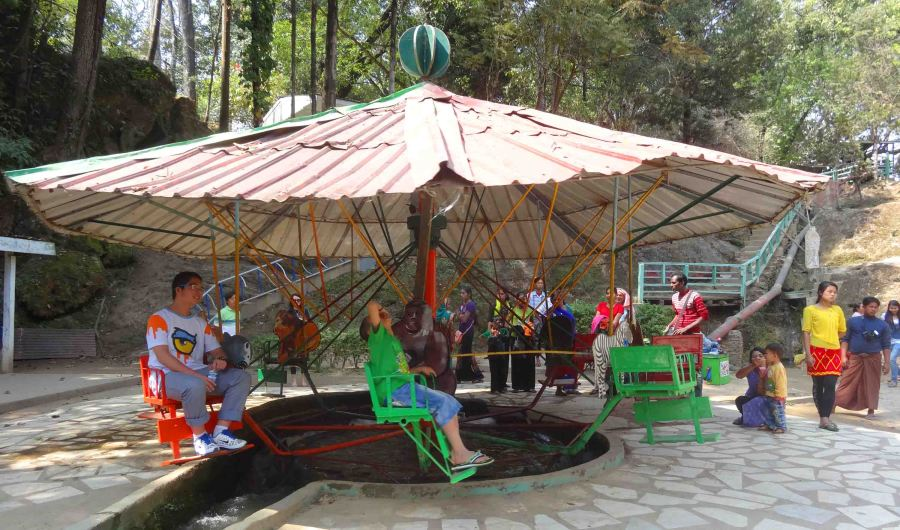 Perhaps the world's first merry-go-around!