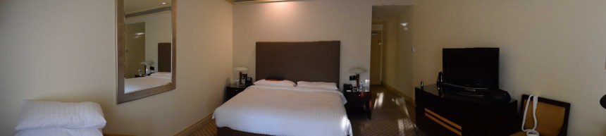 Panorama shot of the room.