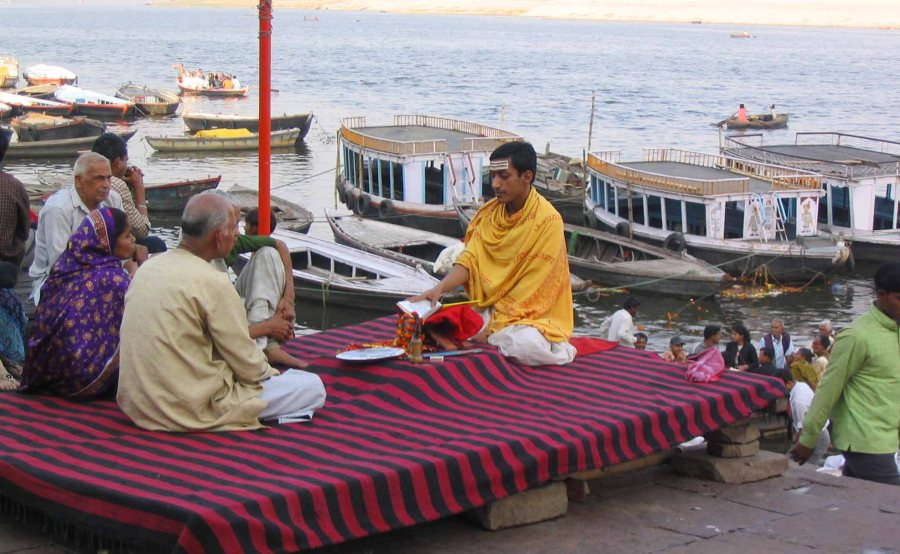 Prayers in Varanasi.