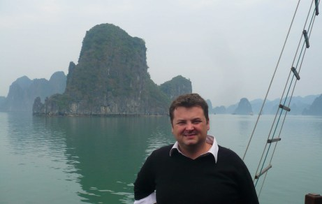 me at halong bay
