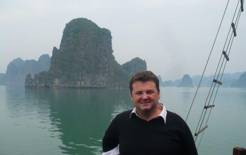 me at halong bay