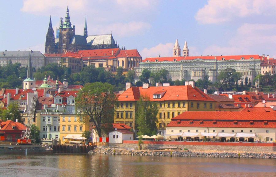 Prague across the Rover Vltava.