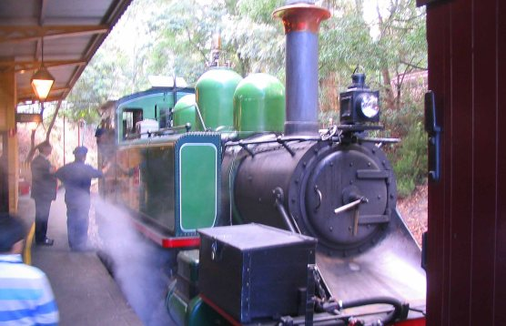 The classic Puffing Billy steam engine.
