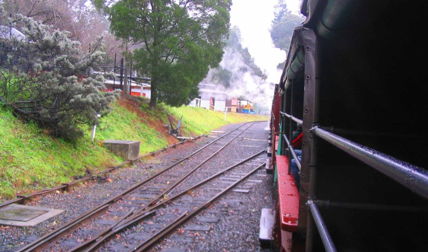 puffing billy on the track