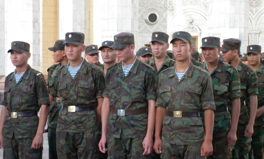 soldiers in Bishkek