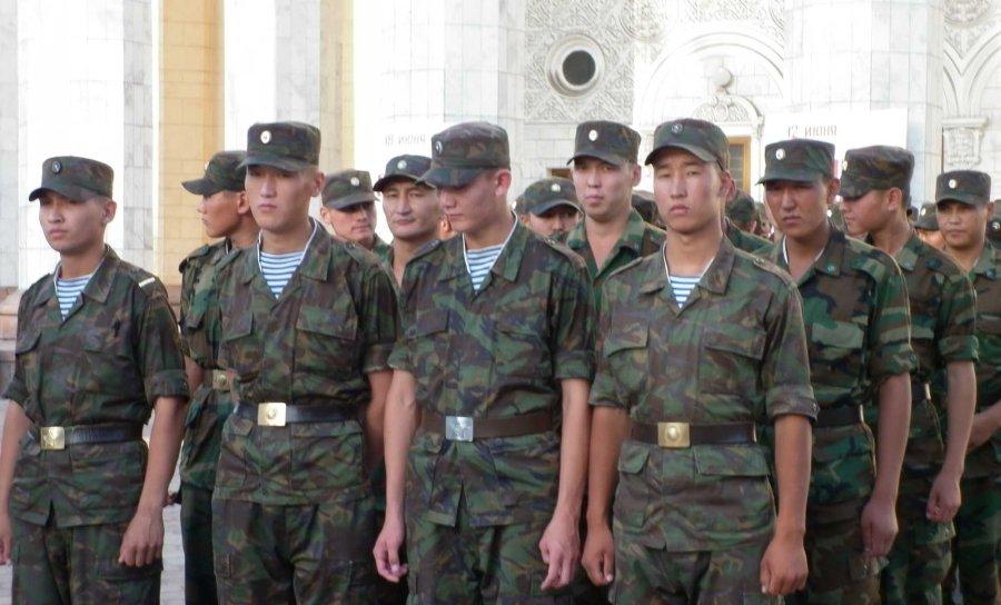 soldiers in Bishkek