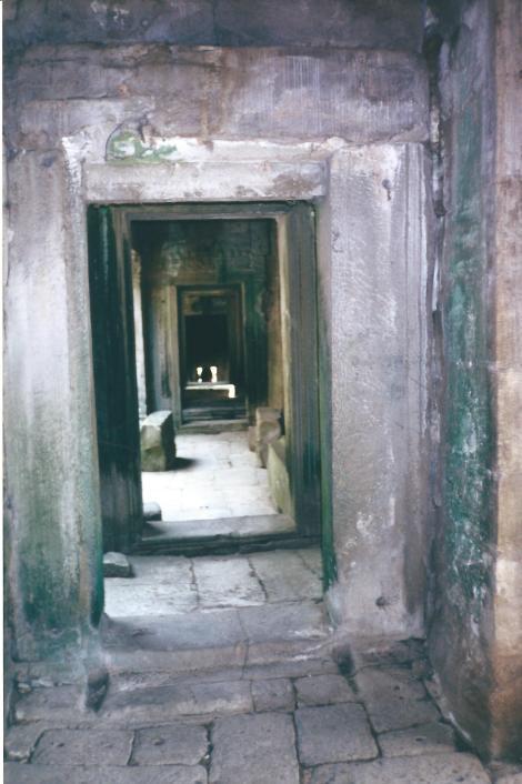 Stone corridors.