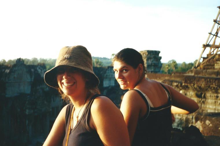 At sunrise at Angkor Wat.