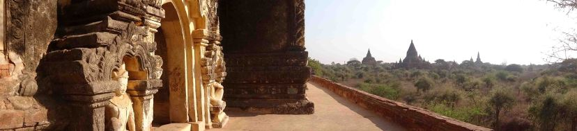 Panorama from one of the temples, Bagan.