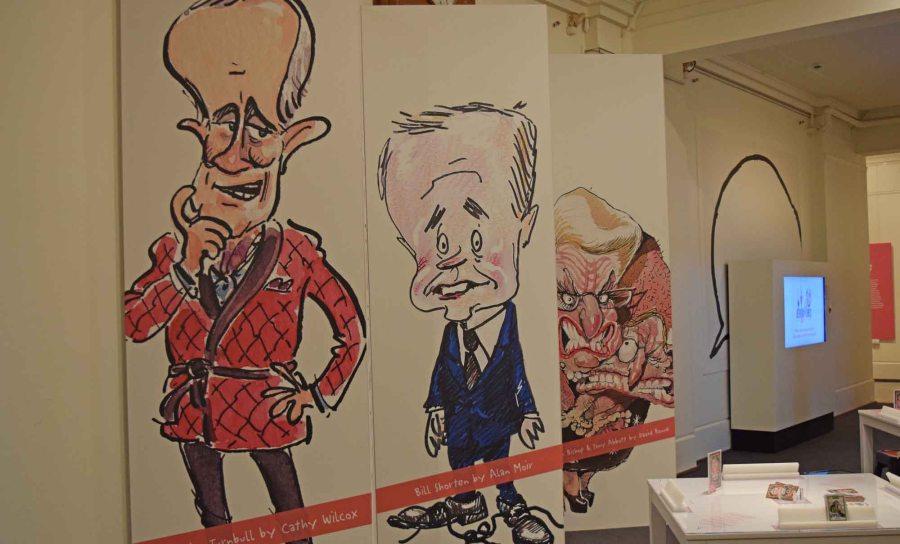 Political Cartoon exhibition.