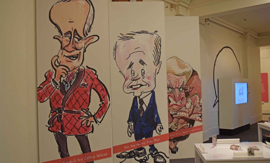 Political Cartoon exhibition.