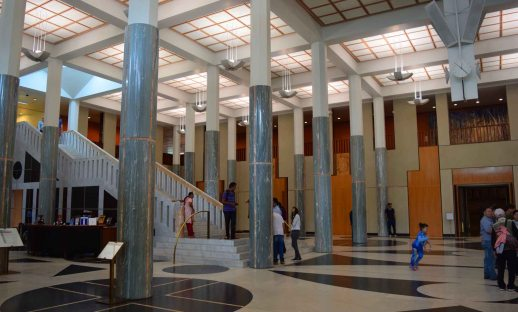 As you enter past security this is the first view of the inside of Parliament House.
